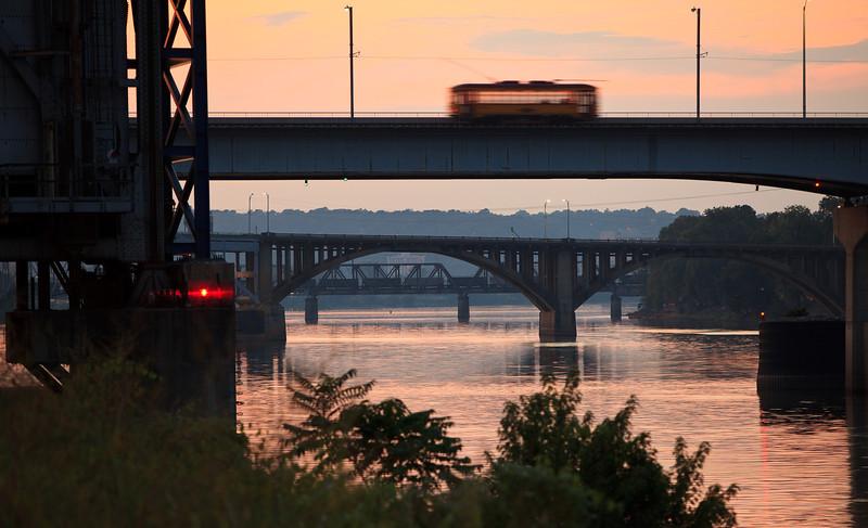 Four ways to cross the Arkansas River