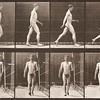 Nude man walking (Animal Locomotion, 1887, plate 5)