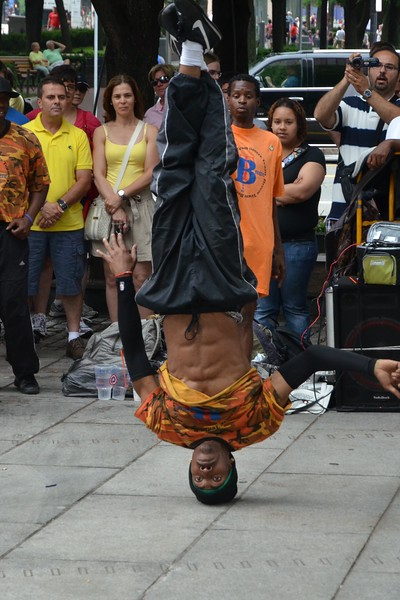 Street performer at Quincy Market, Boston