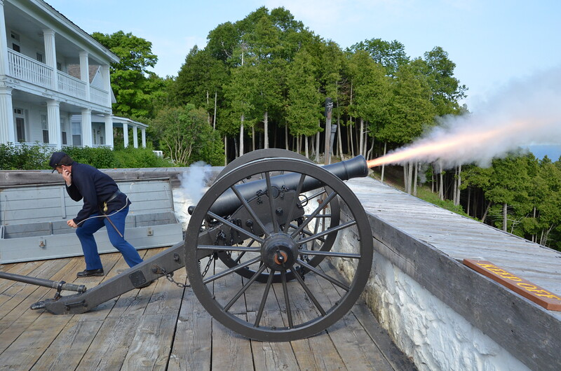 Cannon Fire at Fort Mackinac