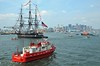 Old Iron Sides, Boston harbor