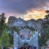 Mount Rushmore at sunset