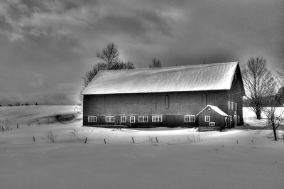 Barn in winter, Stowe VT