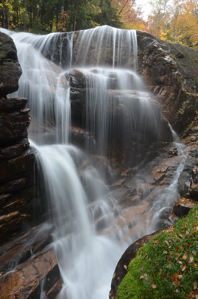 Waterfall at the Flume Gorge in Franconia Notch Park, NH