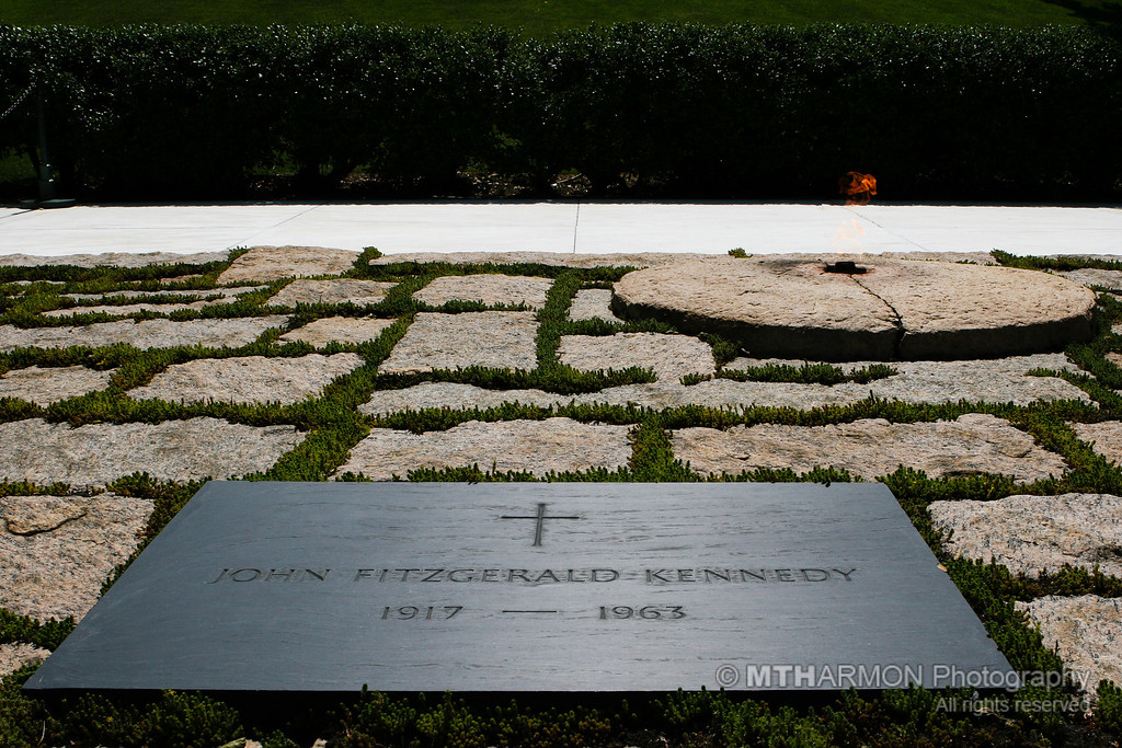 Gravesite of President John F. Kennedy  - Arlington National Cemetery. (Arlington, VA)
