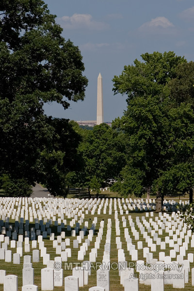 The Washington Monument as seen from Arlington National Cemetery. (Arlington, VA)