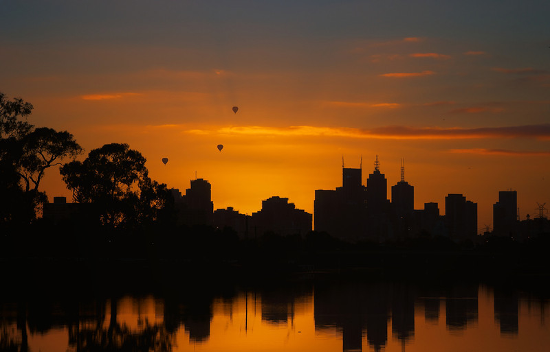 Balloons above Melbourne