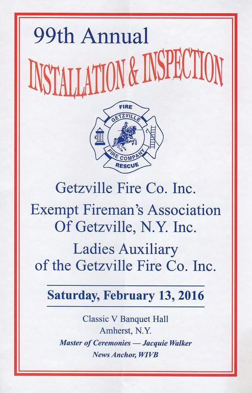 Getzville Fire Dinner - 2016
