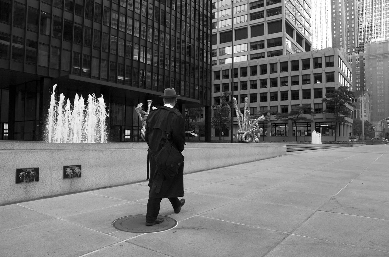 The Grey Man Ponders Public Art