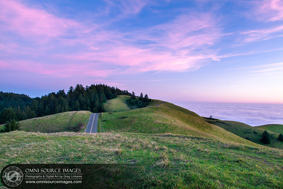 Mt Tamalpias West Ridge Road Sunset