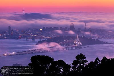 Opening Night for the New Eastern Span of the Bay Bridge. Monday, September 2, 2013 at 7:55 PM. 5.0 seconds at f/22, ISO 50, 300mm.