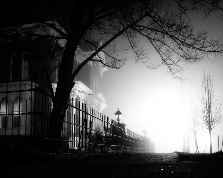 Webb Hay House in Fog