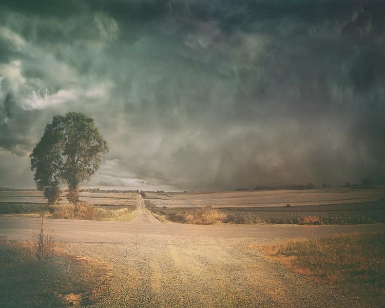 The 1925 Tornado Approaches Trousdale School