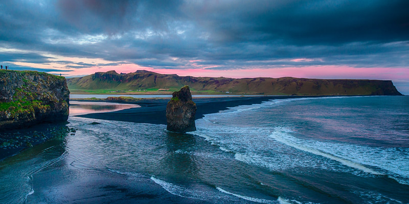 Reynisdrangar after sunset