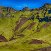 Mountain Reynisfjall, the green mountain