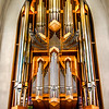 The Church houses this large pipe organ