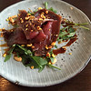 Lamb carpaccio as appetizer