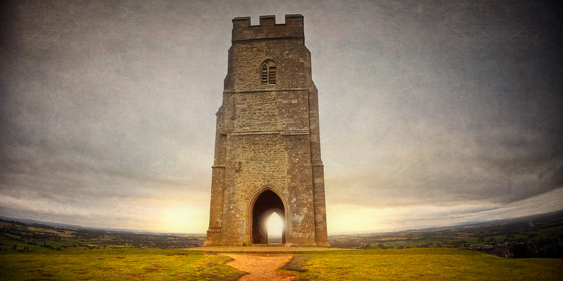 St Michael's Tower, Glastonbury Tor, Somerset, Wiltshire, England