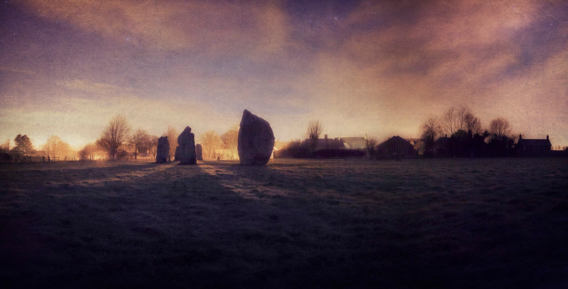 View of Avebury Village From The Ring Stone