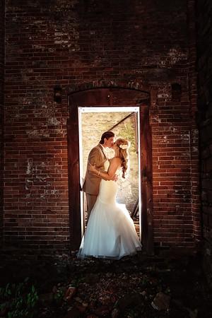 Bride and Groom at Elberta Life Saving Station | Rayan Anastor Photography | Frankfort Wedding Photographer