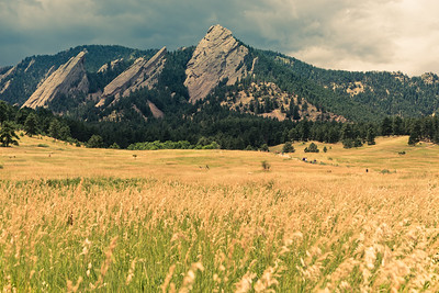 Looking Back at the Flatirons