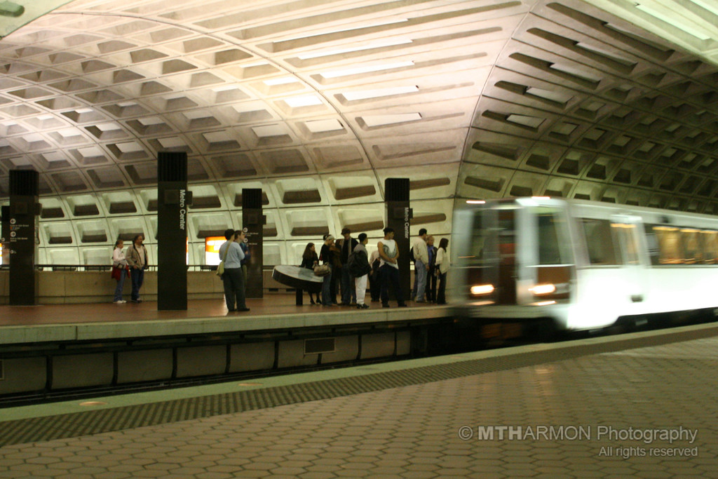Riding the Metro - Metro Center (Washington, DC)