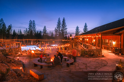Making Smores at Rush Creek Lodge Yosemite