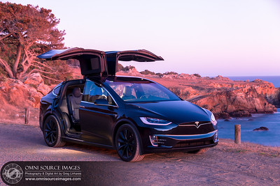 Tesla Model X 100D Coastal Sunset