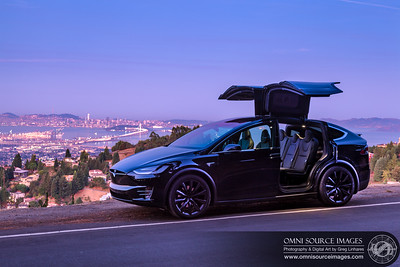 Tesla Model X 100D Bay Area Sunrise