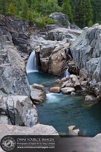 South Yuba River Swimming Hole Waterfalls at Indian Springs Campground