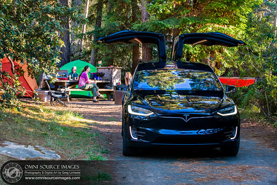 Tesla Model X 100D in Campground