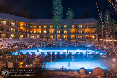 Rush Creek Lodge Pools at Night