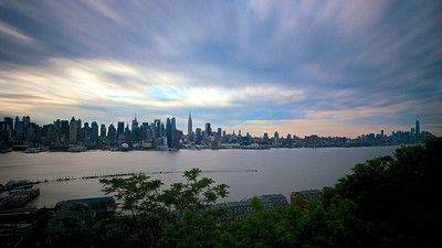 Manhattan Skyline - Long Exposure From Weehawken
