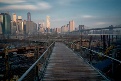 Squibb Park Bridge and Manhattan Skyline