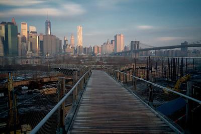 Squibb Park Bridge and Manhattan Skyline
