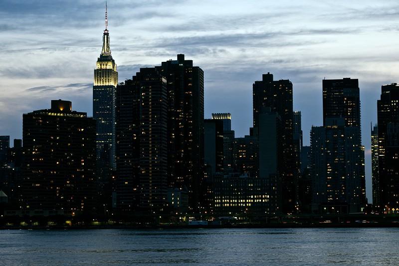 Empire State - White at Night