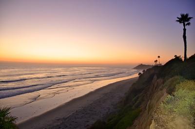 Sunset in Encinitas, CA.