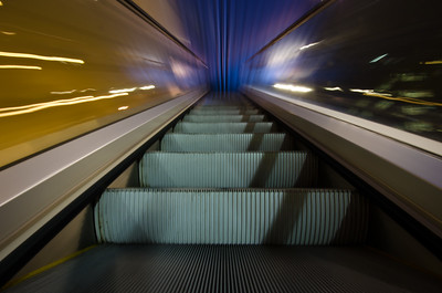 Blurry Escalator