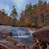 Turtleback Falls on Horsepasture Wild and Scenic River in Pisgah National Forest