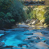 "Iron Bridge"" over Chattooga River in Nantahala National Forest"