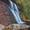 Silver Run Falls in Nantahala National Forest