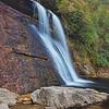 Silver Run Falls in Nantahala National Forest