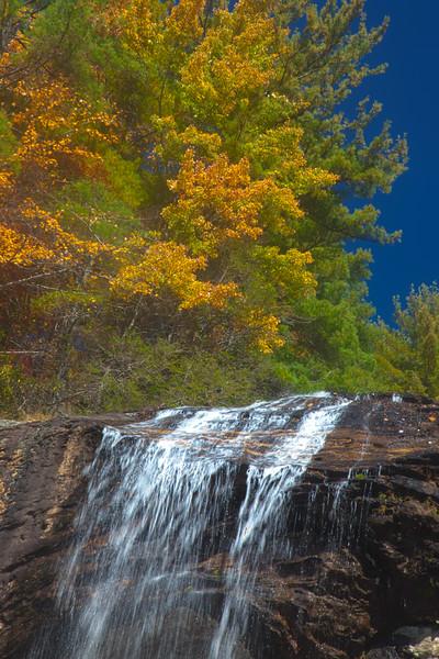 Glen Falls in Nantahala National Forest