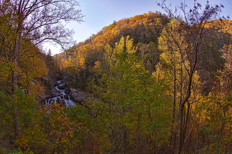 Cullasaja Falls on Cullasaja River in Nantahala National Forest
