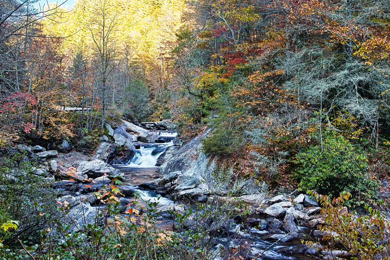 Quarry Falls on Cullasaja River in Nantahala National Forest