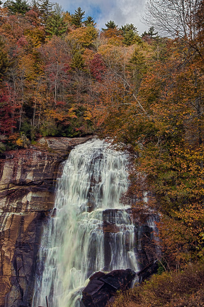 Rainbow Falls on Horsepasture Wild and Scenic River in Pisgah National Forest