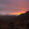 """Sunrise from Rhodes """"Big View"""" Overlook on US 64"""