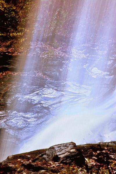 Dry Falls on Cullasaja River in Nantahala National Forest