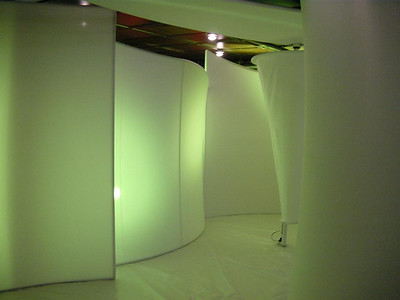 Olay, Custom Stretch Fabric Display w/ Color Lighting