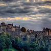 Edinburgh Castle atfter sunset